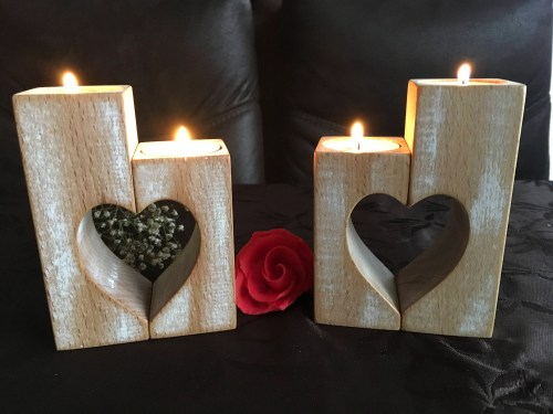 Medium Of Wood Candle Holders