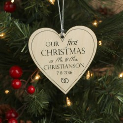 Comely Our Heart Ornament Personalized Ornaments Newlyweds Just Married Custom Ornament Our Heart Ornament Personalized