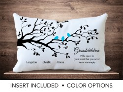 Calm Children Family Tree Pillow Personalized Parent Gift Mabirthday Mor Gifts Ma Tree Children Children Family Tree Pillow Personalized Parent Gift