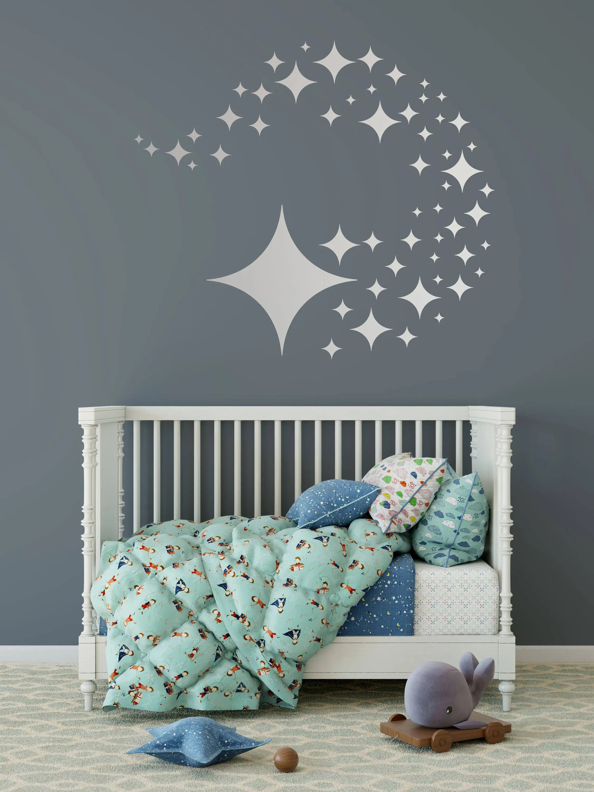 Considerable Star Wall Decals Variety Sizes Nursery Home Wall Sizes Starspattern Wall Decal Diamond Stars Decals Nursery Star Wall Decals Variety Sizes Nursery Home Wall Sizes baby Wall Decals For Nursery