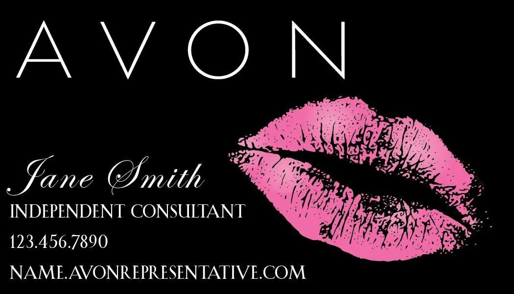 AVON business card printable download lips kiss   Etsy AVON business card printable  download  lips  kiss
