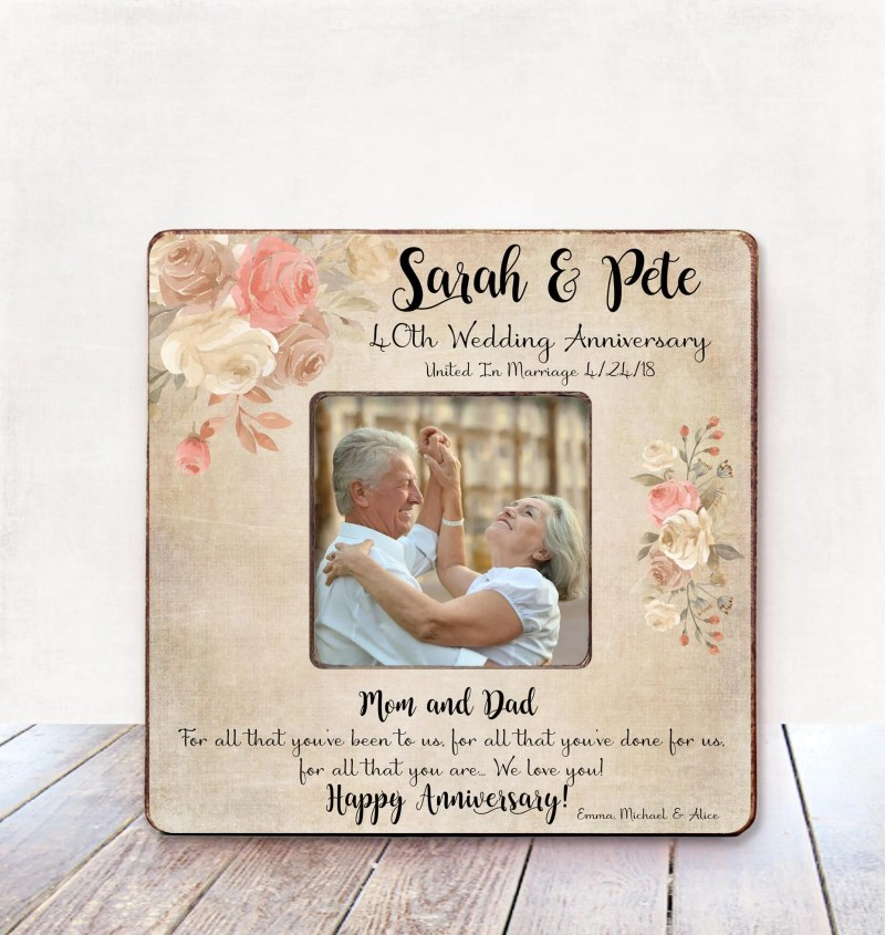 Calmly Parents Anniversary Gift Parents Wedding Anniversary Gift Anniversaryframe Parents Gift Personalized Anniversary Gift Parents From Parents Anniversary Gift Parents Wedding Anniversary Gift