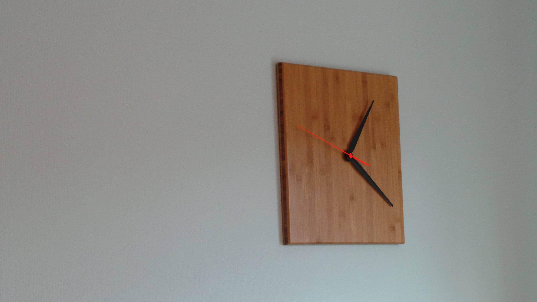 Cheery Minimal Design Bamboo Square Wall Clock Square Variable Handcolours Minimal Design Bamboo Square Wall Clock Square Variable Large Wall Clock Just Hands furniture Wall Clocks Just Hands