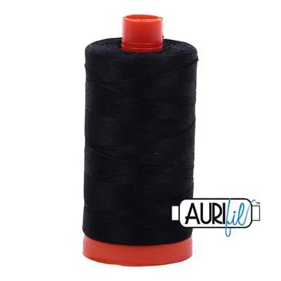 Aurifil Cotton Thread - 50 wt - Black