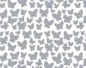 Lotta Jansdotter Fabric - Lilla - Minna in Grey  Blue