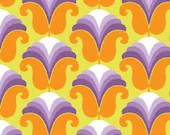 Emma Jean Jansen Fabric - 60's Scrap Bag -  Chloe Lime/Orange