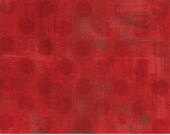 """Moda Grunge by Basic Grey - 108"""" wide quilt backing - Hits the Spot - Red"""