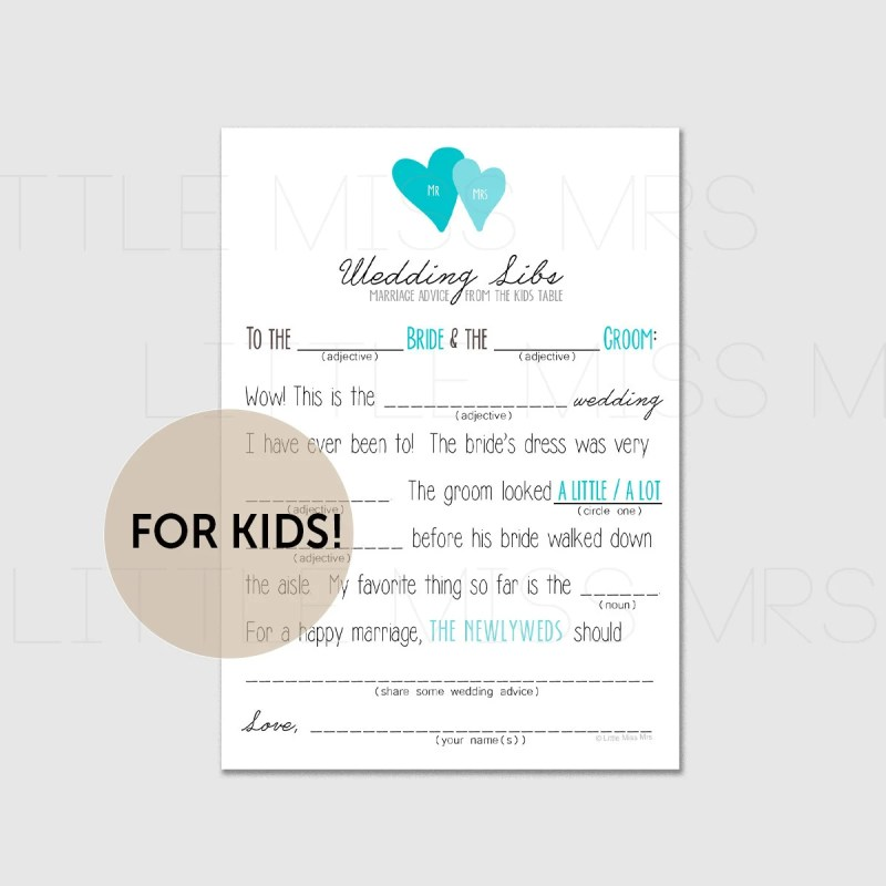 Large Of Wedding Mad Libs