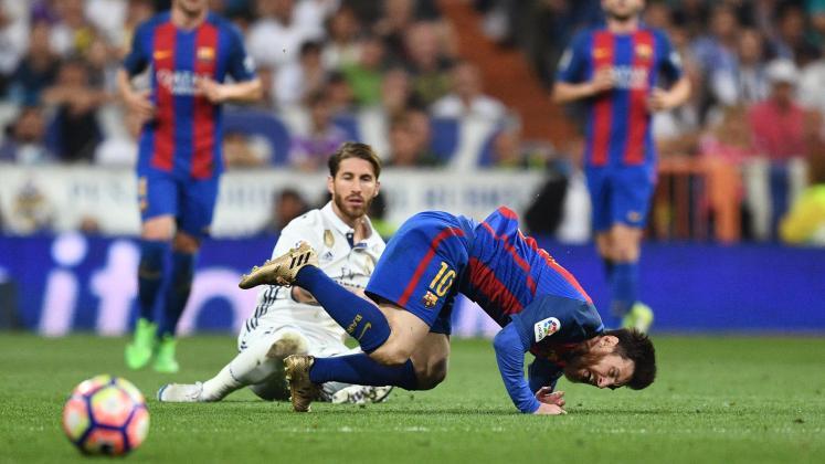 Sergio Ramos (Real Madrid) et Lionel Messi (FC Barcelone).