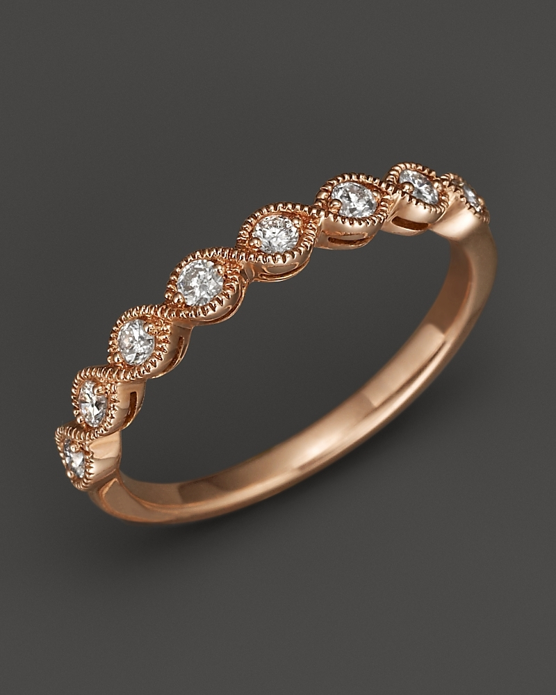rose gold engagement rings n rose gold wedding rings These Rose Gold Engagement Rings Will Have You Thinking Pink