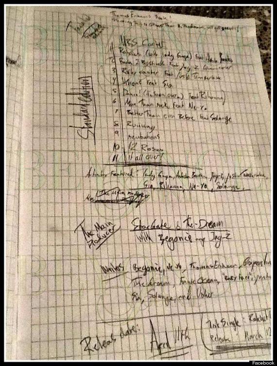 beyonce tracklist
