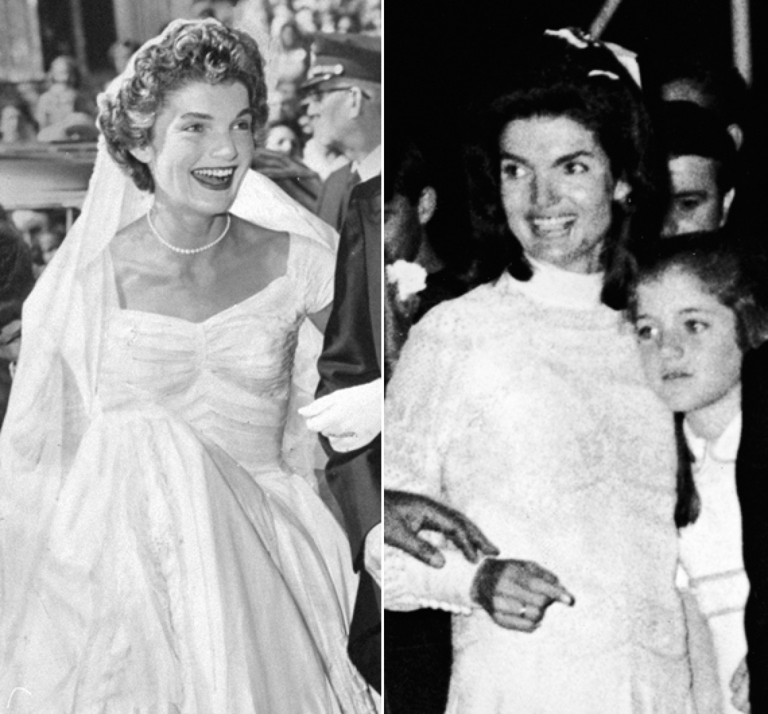 jackie kennedy wedding dress n second marriage wedding dress Jackie Kennedy s Wedding Dresses Still Make Us Swoon Both Of Them HuffPost