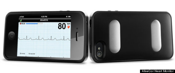 Alivecor Heart Monitor -- Click image to visit original article at FastCoDesign.com.
