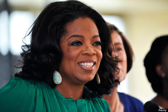 oprah in a gown
