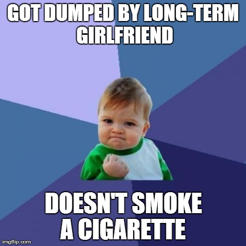 Lonely ex-smokers will appreciate this