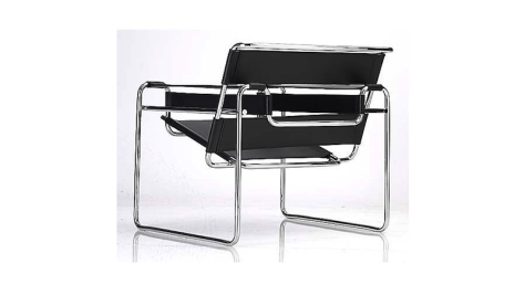 Of all the chairs to come out of the Bauhaus, this is the one that commonly comes to mind. Designed my Marcel Breuer, the Wasilly chair is a mix of steel and leather, using no more material than is absolutely needed, while providing maximum comfort. It's a design you'll still find in homes today.