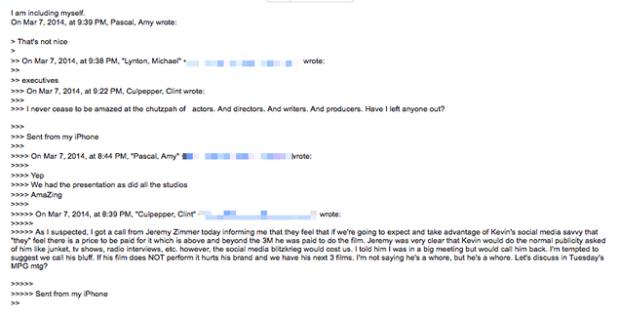 """Sony Leak: Studio Exec Calls Kevin Hart a Greedy """"Whore"""""""