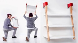 Lovable Installing This Axe Shelf Looks Incredibly Easy Dangerous Fire Escape Bookshelf Fire Escape Bookshelf Manufacturer