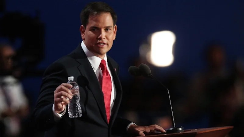 Donald Trump Sends Marco Rubio A Thirst-Quenching Care Package