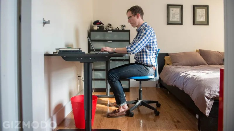 Modren Adjustable Height Desk Ikea And Design Decorating