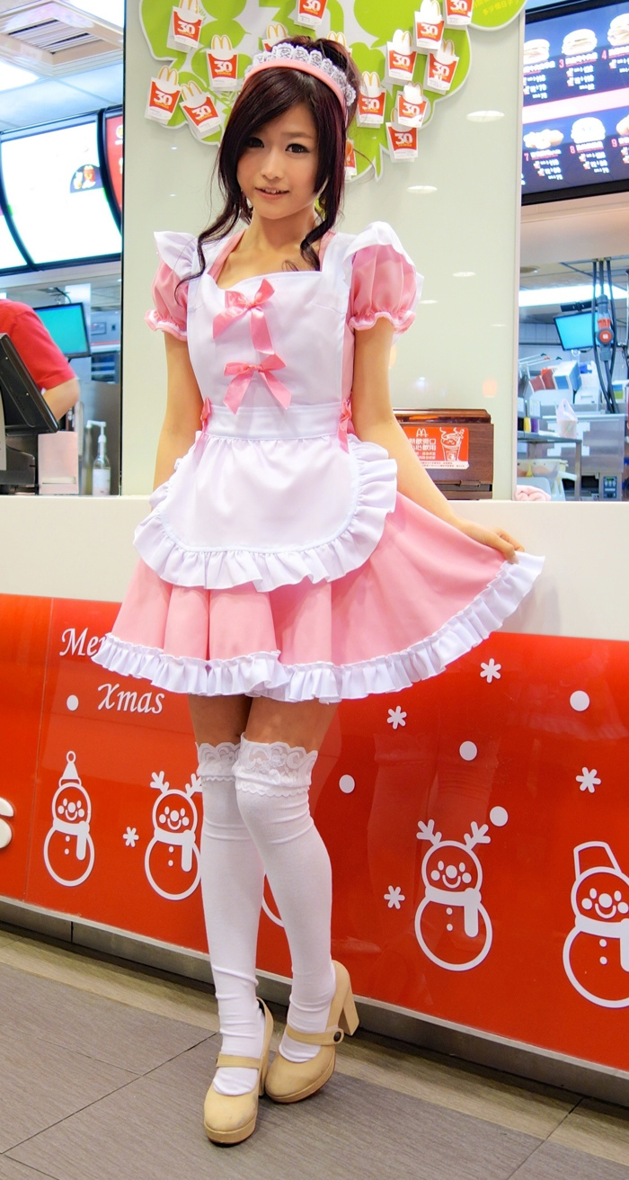 Sweet Me Taiwan Taiwan Bombings Ronald Mcdonald Clothing Pinkmaid Girl Costume Snapshot Lolita Maid Goddess Wei Han Xu Know Your Meme Japanese Ronald Mcdonald Creepy Japanese Female Ronald Mcdonald nice food Japanese Ronald Mcdonald