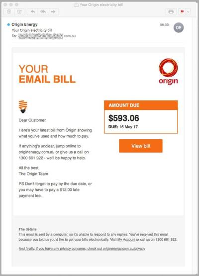 Fake Origin Energy bills loaded with malware target Aussies - Security - CRN Australia