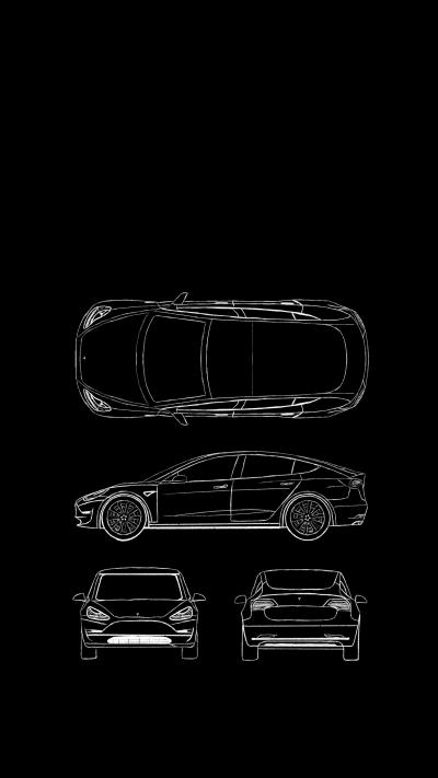 Here's a Model 3 iPhone X wallpaper that no one asked for. : teslamotors