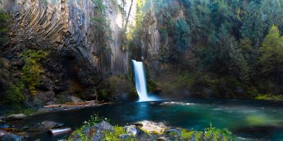 Toketee Falls on the North Umpqua River, OR [13836 × 6886 ...