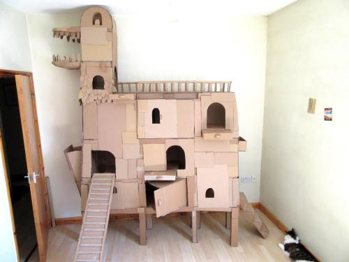 Medium Of Cardboard Cat House