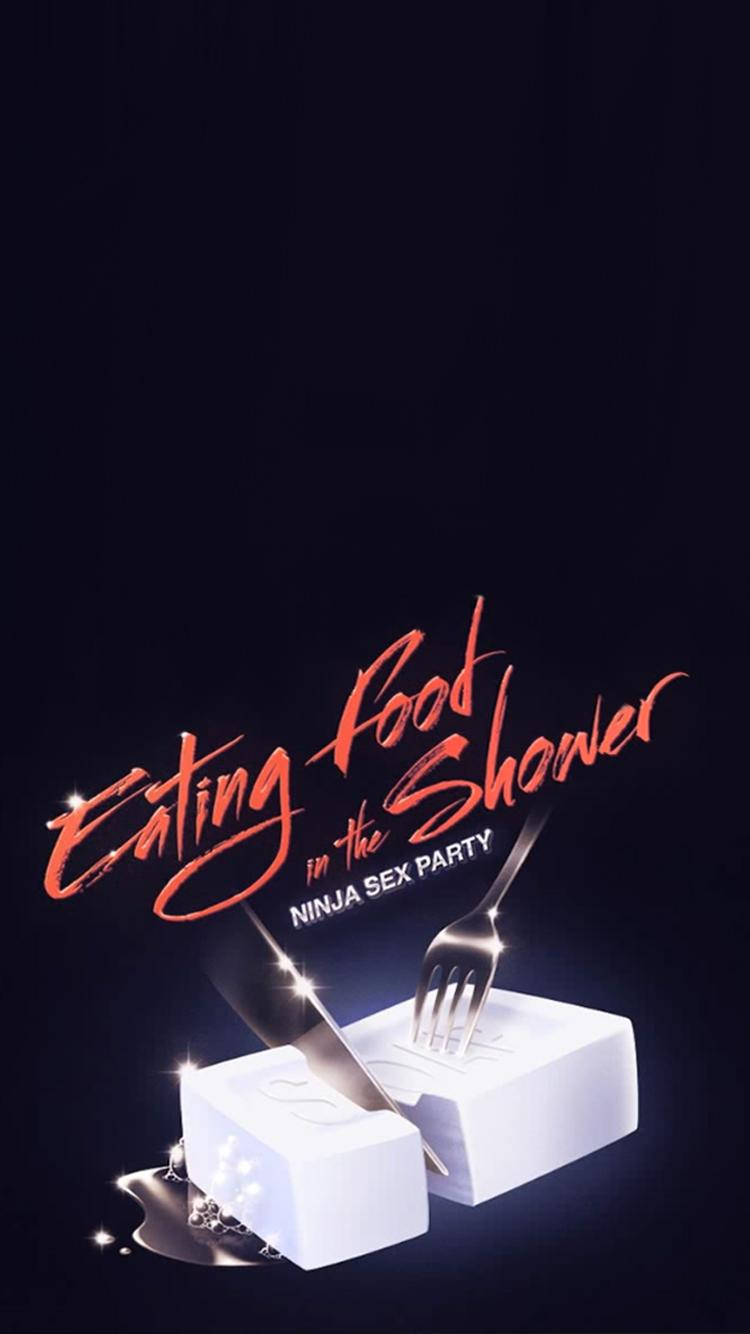 Large Of Eating Food In The Shower