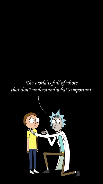 I made a Rick and Morty wallpaper for iPhone 6. : rickandmorty