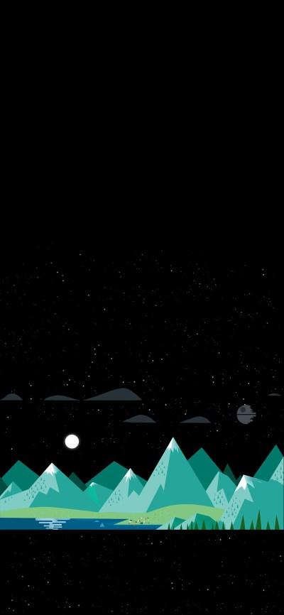 Subtle Death Star Wallpaper iPhone X [1125 × 2436] : Amoledbackgrounds