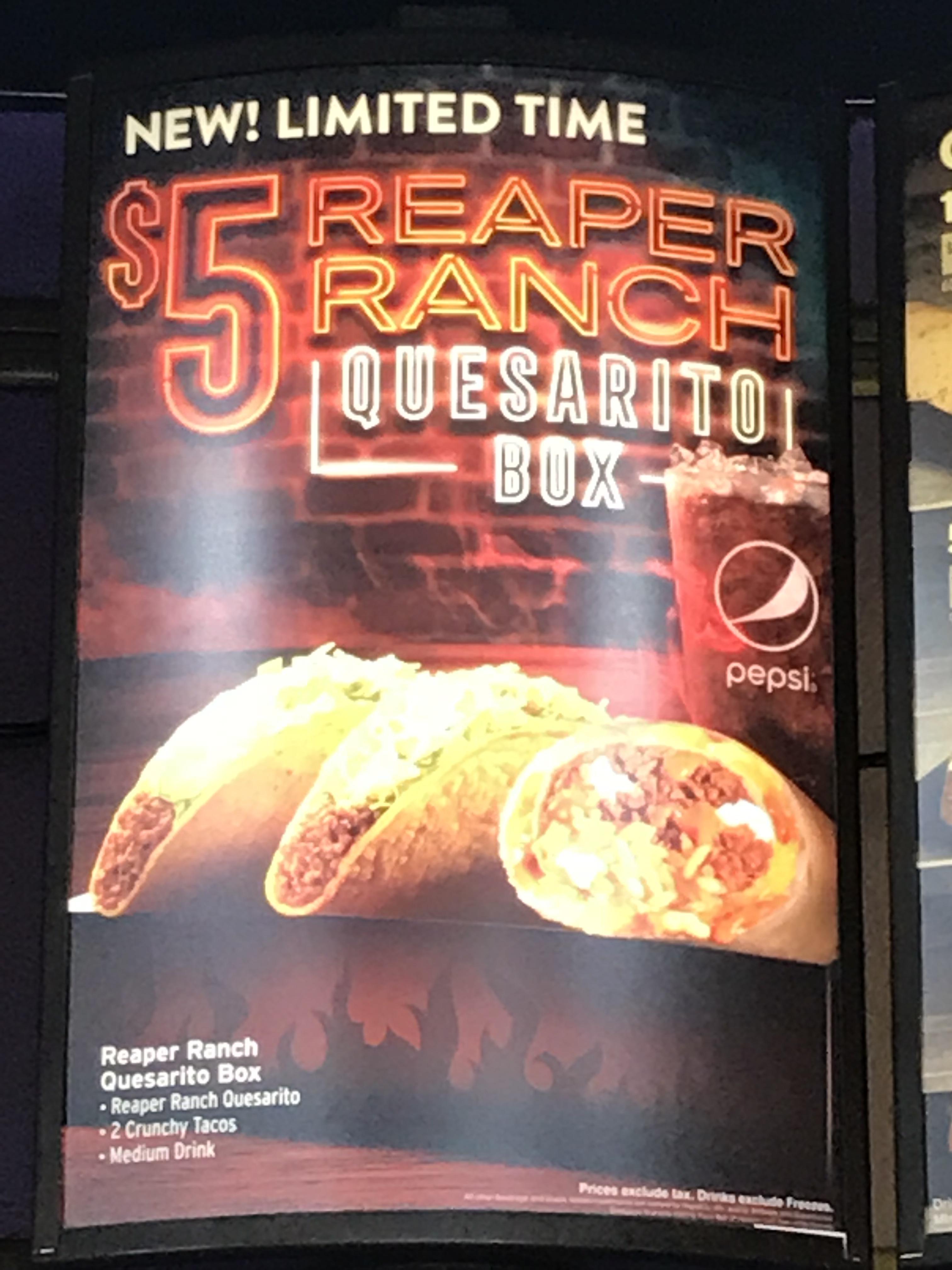 Wonderful Reaper Ranch Quesarito Box Reaper Ranch Quesarito Box Wi Tacobell Quesarito Taco Bell Box Quesarito Taco Bell Sauce nice food Quesarito Taco Bell