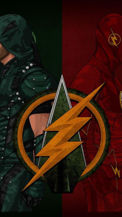 A cool Flash/Arrow phone wallpaper I found : FlashTV