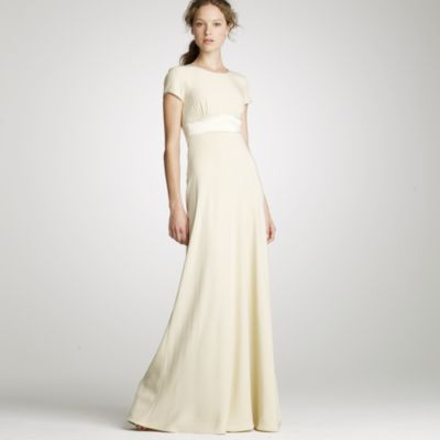 j crew wedding dress Crepe Mimi T shirt gown