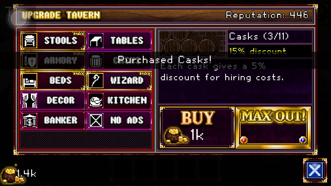 soda dungeon upgrade tavern
