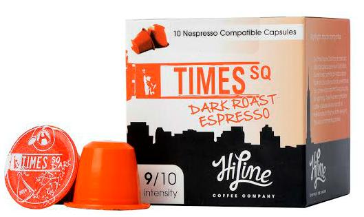 Times Square Nespresso compatible coffee pods
