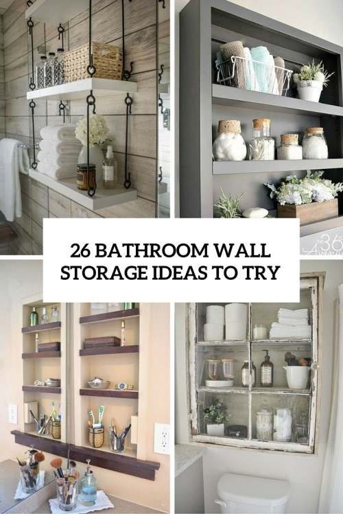 Medium Of In Wall Bathroom Shelves