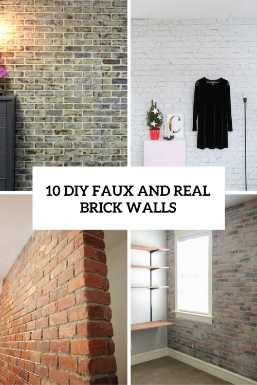 Medium Of Faux Brick Wall