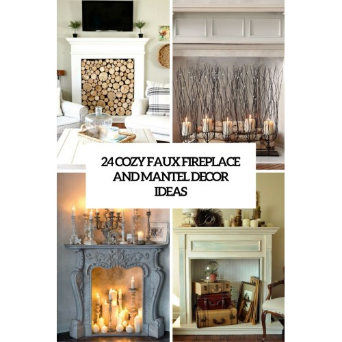 Medium Crop Of Faux Fireplace Mantel