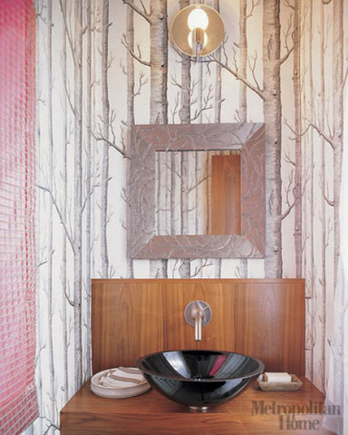 21 Unusual Bathroom Designs With Wallpapers On Walls - Shelterness