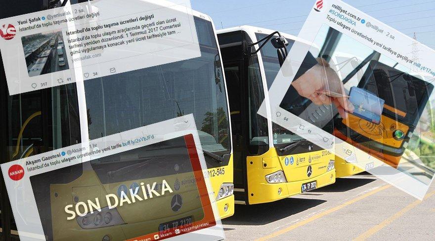 Toplu taşımadaki fahiş zamma 'zam' diyemeyen gazetelerin çabaları sosyal medyada olay oldu