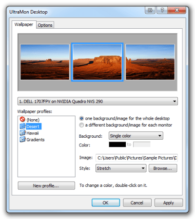 Set one background to stretch across multi-monitor display?   SuperuserXchanger   QueryXchanger ...