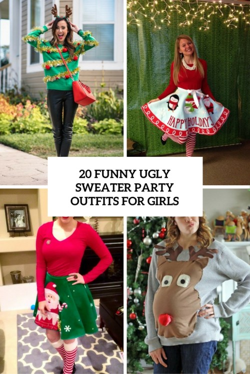 Peachy Girls Cover Ny Ugly Sweater Party Outfits Ny Ugly Sweater Party Outfits Girls Styleoholic Ugly Sweater Party Invitation Wording Ugly Sweater Party Prizes
