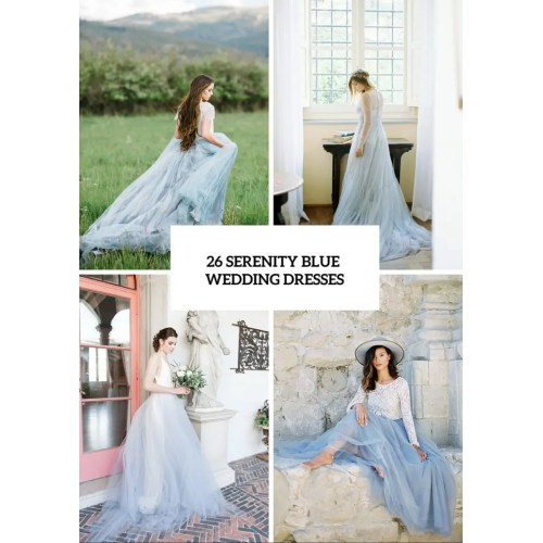 Medium Crop Of Blue Wedding Dresses