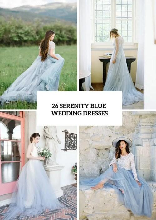 Medium Of Blue Wedding Dresses