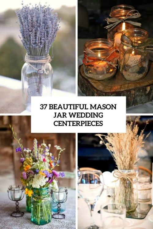 Medium Of Mason Jar Centerpieces