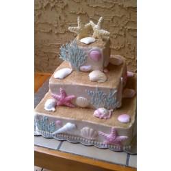Small Crop Of Beach Wedding Cake