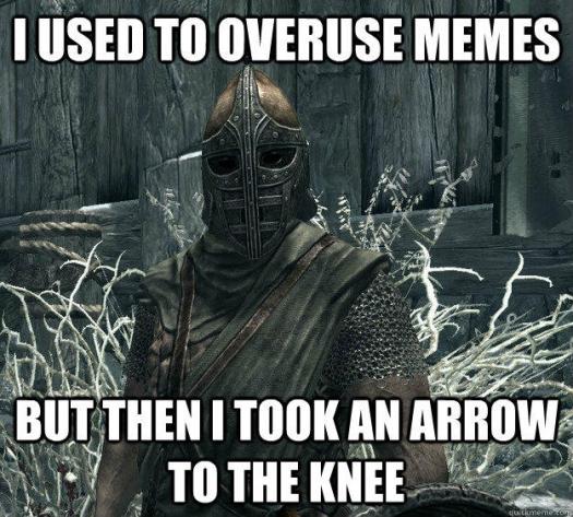 Arrow to the meme