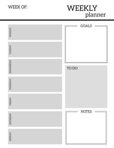 Free Printable Weekly Planner Pages - Paper Trail Design